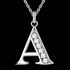 Letter A-S silver plated Necklace, Stamp 925 fashion silver jewelry Fashion Pend
