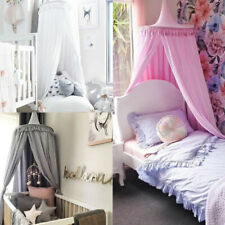 Kids Baby Bed Canopy Bedcover Mosquito Net Curtain Bedding Dome Tent 4 Colors
