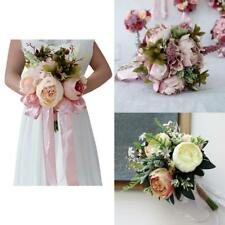 Romantic Peony Bridal Bouquet Silk Flower Wedding Ceremony Party Decorations