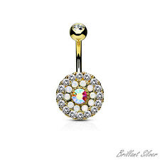 Bling Bling Belly Button Piercing Navel Piercing Gold Stud Crystal
