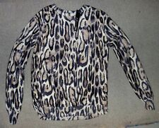 Glamour Babe Long Sleeve Animal Print Top Small or Large - New With Tags
