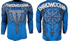 NWT Throwdown by Affliction Mens MISSION  Thermal BlueI  MEDIUM