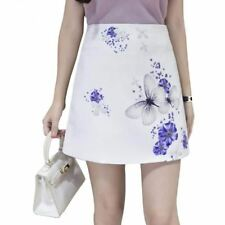 Women Summer Vintage Printed High Waist Fitness  Floral Mini Skirt