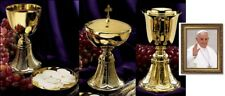 CHALICE PATEN CIBORIUM and COMMON CUP complete set for HOLY MASS CATHOLIC PRIEST