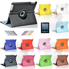 360 Rotating Magnetic PU Leather Case Smart Cover Stand For Apple iPad 2/3/4