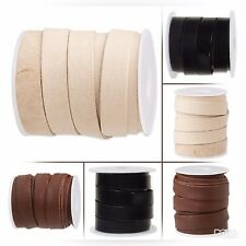 12mm genuine flat leather cord, genuine flat leather cord 0.47 inch