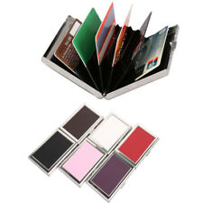 Credit Card ID Holder Slim Money Wallet Metal RFID Box Case Pasted PU Leather