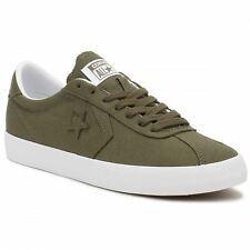 Converse Breakpoint Ox Medium Olive White Mens Canvas Low Top Trainers