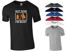 Funny Video Games T Shirt Not Now I'm Busy Xbox PS4 PC Gamer Birthday Gift Top