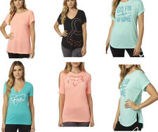 Multi-Style Fox Racing Ladies S/Sleeve T-Shirt Casual Tee Top Size XS S M L XL