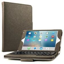 Keyboard Case For Apple iPad Mini 4 Brown Screen Protector And Stylus Pen Gift