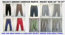 "SELECTION of Women's PANTS SMALL 24""-27"" WAIST Size Capris Jeans Slacks Cropped"