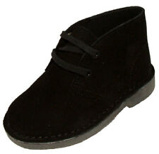 Clarks Original DESERT BOOT black suede boys boots size 6-13 G Fit NEW BOXED