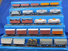 HORNBY DUBLO 2/3 RAIL VARIOUS SD6 WAGONS WITH PLASTIC WHEELS & METAL COUPLINGS