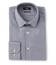 HUGO BOSS ENZO US BLACK LABEL DRESS SHIRT REGULAR FIT CHECKED BLUE/GRAY-NWT