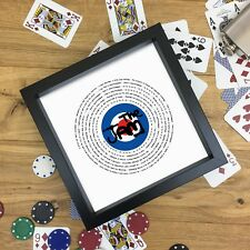 The Jam Fan Gift Vinyl Record Print or Fully Framed 7 or 12 inch ANY SONG