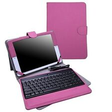 Apple iPad 9.7 inches 2017 Pink Wireless Bluetooth Keyboard Case PU Leather Gift