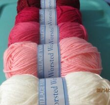 Village Yarn Assortment PINK SELECTIONS 3 oz skein, 100% Acrylic Worsted Wt #4