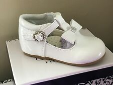 BABY TODDLER GIRL SPANISH PATENT SPARKLY BOW PARTY WEDDING OCCASION GIRLS SHOES
