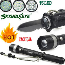 Military Tactical T6 LED Light 80000Lumens 18650 Flashlight Torch Camping Lamps