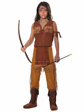 Classic Indian Brave Chief Native American Western Book Week Boys Costume