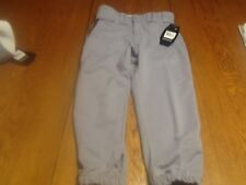 Easton youth deluxe pipes baseball pants, nwt, gray and navy blue