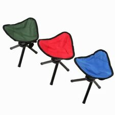 3 Tripod Folding Stool Chair Foldable Picnic Fishing Triangle Tripod Seat