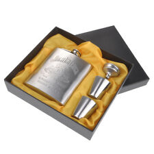 New Portable Stainless Steel 7 Oz Hip Flask Mug Bottle +Funnel +Cup w/ Gift Box