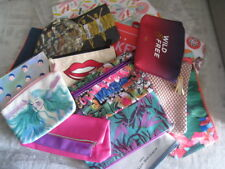Cosmetics, Makeup Bags - different brand, color, lined, zip closure, bag only