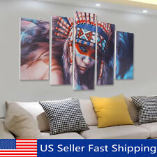 5Pcs Cool Indian Woman Canvas Print Painting Wall Picture Modern Home Art Decor