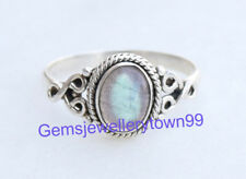 925 Sterling Silver Gray Blue Labradorite Ring Gemstone Ring All Size R8LB