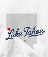 Lake Tahoe, Nevada NV MAP Souvenir T Shirt All Sizes & Colors