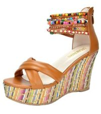Women Shoes Summer Wedge Sandals Casual Open Peep Toe High Platform Ankle strap