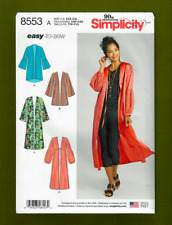 Easy Kimono & Duster Sewing Pattern~Length Variations (XS-XL) Simplicity 8553