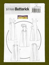 Historical Aprons Sewing Pattern~5 Styles (Sizes S, M, L ) Butterick 5509