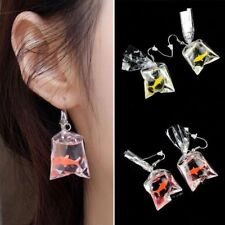 Goldfish Water Bag Shaped Personality Earrings Dangle Earrings Eardrop Resin