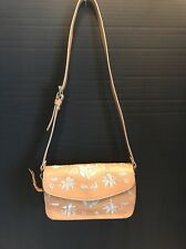 Vintage Adrienne Vittadini Beige Floral Embroidered Purse/Handbag/Small Purse