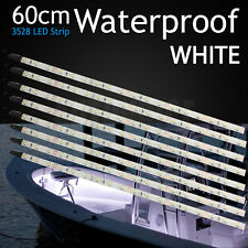 60cm 3825SMD LED Strip White Lights Waterproof Boat Yacht Fisthing Deck Bar 12V