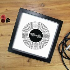 Arctic Monkeys Fan Gift Vinyl Record Print or Fully Framed 7 or 12 inch ANY SONG