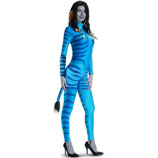 Adult Movie Avatar Neytiri Fancy Dress Costume Halloween Cosplay Jumpsuit