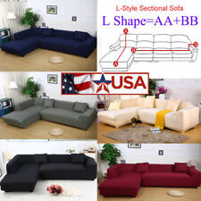 L-Shape Stretch Chair Loveseat Sofa Couch Protect Cover Slipcover Sectional Sofa