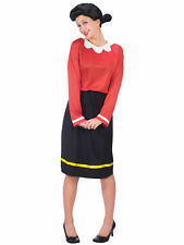 Olive Oyl Oil Popeye Licensed Wig Women Costume with Wig