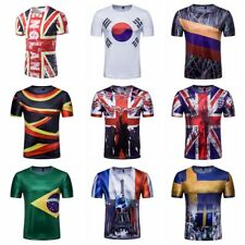 New Theme T-shirts Mens World Cup Fans Casual Short Sleeve O-neck Printed Tee