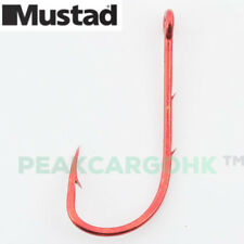 Mustad Red Two Baitholder Barbs Neat Small Fishing Hooks Forged Kirbed Bend