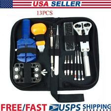 13Pcs Watch Battery Change Repair Tool Band Pin Remover Back Case Opener Kit US