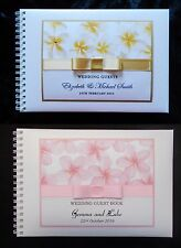 Personalised Guest Book A5 size in Frangipani design in box + Optional Sign