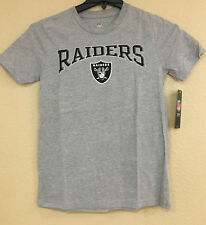 Oakland Raiders Youth T-shirt Gray Color Screen Printed logo - NFL Licensed