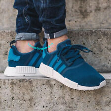 ADIDAS NMD R1 RUNNING SHOES TECH STEEL UNITY BLUE WHITE S31502 MENS SIZE 9