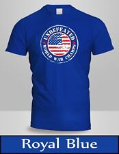 Undefeated World War Champ Belt USA America T-Shirt Mens Royal Blue Tee New