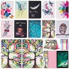 "Cute Patterned Flip Leather Wallet Stand Case Cover For iPad 9.7"" 2018/Pro 10.5"